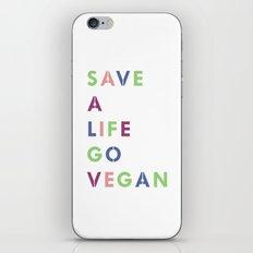 Go vegan iPhone & iPod Skin