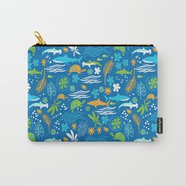 Sharks, Sting Rays and Turtles Carry-All Pouch