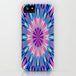 Retro Geometry Mandala Pink Purple Teal iPhone Case
