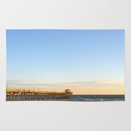Golden Hour at the Fishing Pier Rug