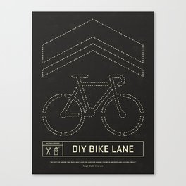 DIY Bike Lane Canvas Print