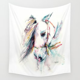 Fantasy white horse Wall Tapestry