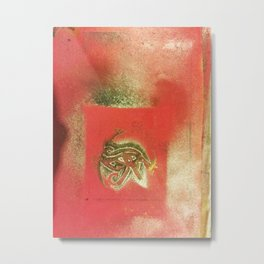 The Left Eye of Horus Spray Paint Graffiti Metal Print