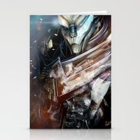 garrus Stationery Cards featuring Garrus Vakarian by Alba Palacio