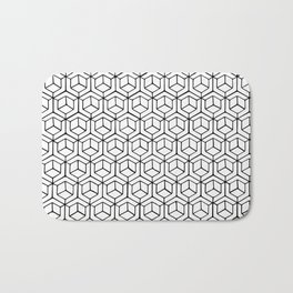 Hand Drawn Hypercube Bath Mat