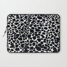 Animal Print Cheetah Black and White Pattern #4 Laptop Sleeve