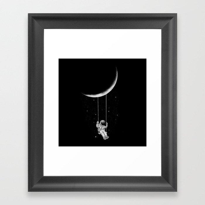 Moon Swing Gerahmter Kunstdruck