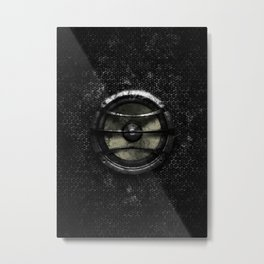 Subwoofer splatter painting Metal Print