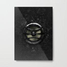 Subwoofer splatter painting Metal Print