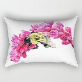 Bumble Me Pink by Teresa Thompson Rectangular Pillow