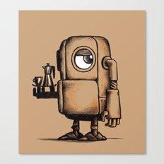 Robot Espresso #1 Canvas Print