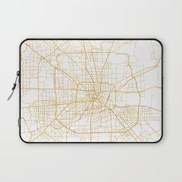 HOUSTON TEXAS CITY STREET MAP ART Laptop Sleeve