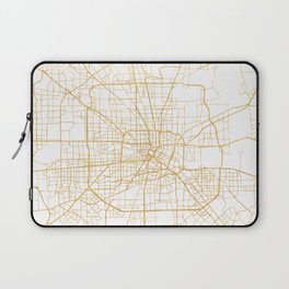 HOUSTON TEXAS CITY STREET MAP ART Laptop Sleeve