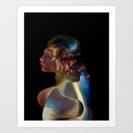Natasha 1 Blue Flames Art Print