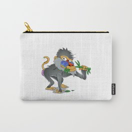 Baboon eating bamboo     Carry-All Pouch