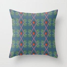 Strawberry Rhubarb Pattern Throw Pillow