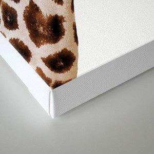 Giraffe, Bubble gum, Pink, Animal, Nursery, Minimal, Trendy decor, Interior, Wall art Canvas Print