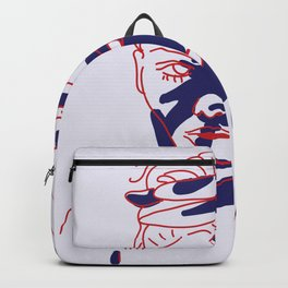 shadow of hand (red and blue) Backpack