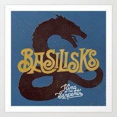 Basilisks Art Print