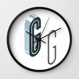 The Exploded Alphabet / G Wall Clock