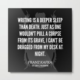 78 |  Franz Kafka Quotes | 190517 Metal Print