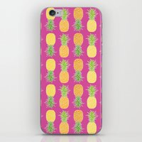 pineapples iPhone & iPod Skins featuring Pineapples by Ornaart