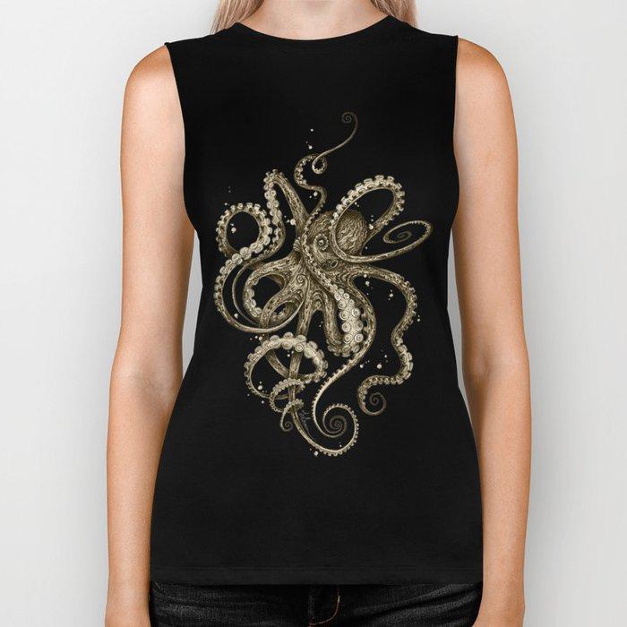 Octopsychedelia Sepia Biker Tank