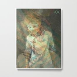 BLONDE STARS CRASHING Metal Print