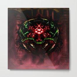 Super Metroid: Angry Baby Metal Print