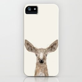 little deer fawn iPhone Case