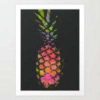 pineapple Art Prints featuring Pineapple by Georgiana Paraschiv