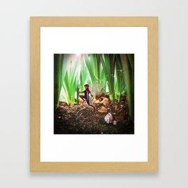 Skipping Fairy Framed Art Print
