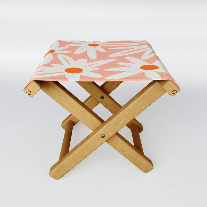 Happy Daisies Folding Stool