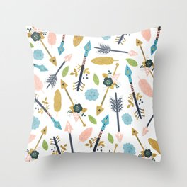 boho arrow pattern Throw Pillow