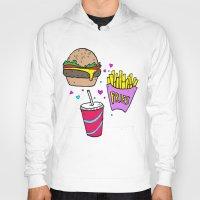 junk food Hoodies featuring Junk Food (Purple) by grackken