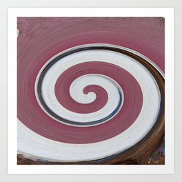 Swirl 06 - Colors of Rust / RostArt Art Print