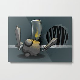 Candle Warrior Metal Print