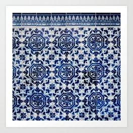 Cobalt Flourish Art Print