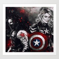 stucky Art Prints featuring Can You Love Me Again by Monika Gross