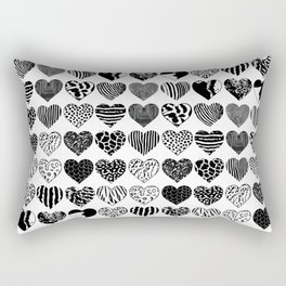 World heart patterns Rectangular Pillow