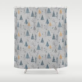 Cute forest pattern Shower Curtain