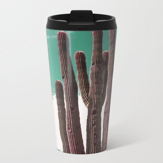 Saguaro Cactus Metal Travel Mug