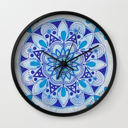 Simpe Blue Mandala Wall Clock