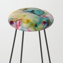 green absstract Counter Stool