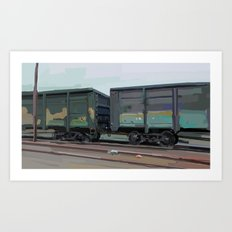 on rails Art Print