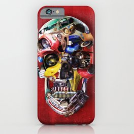 Hot Rod Skull iPhone Case