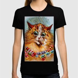 "Louis Wain's Cats ""Tom Smith's Crackers"" T-shirt"