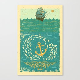 GOLDEN ANCHOR Canvas Print