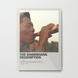 Shawshank Redemption Minimal Movie Poster No 02 Metal Print
