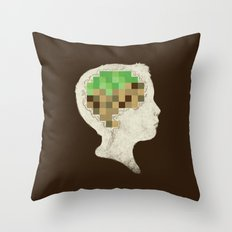 Mind Crafted Throw Pillow